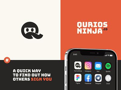 Qurios Ninja App - Caller Identification brand design logo design ninja packaging halo lab identity logotype brand identity logo brand sign branding