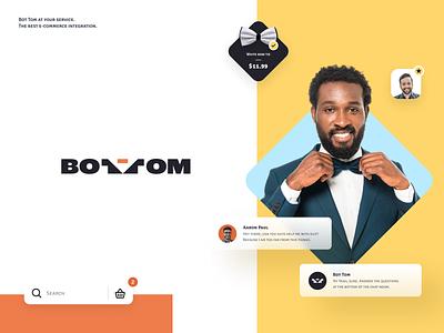 Bot Tom - E-commerce Assistant logo design chatbot halo lab shop