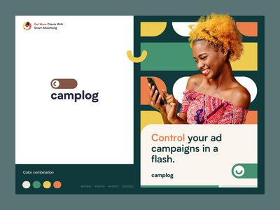 Camplog - Track your ad campaigns hero packaging marketing smm creative logo design log campaign ad halo lab identity logotype logo brand identity branding