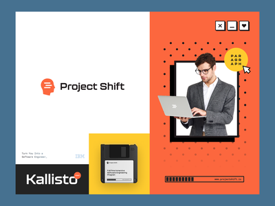 Project Shift - Step into IT halo studio agency branding design logo design brand guidelines brand book packaging engineering software project halo lab identity logotype brand identity logo branding