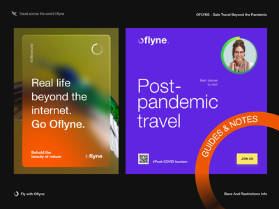 Post-pandemic Travel Guides - Oflyne packaging fly brand book brand guidelines logo design pandemic covid travel guides dribble dribbble halo halo lab identity logotype logo brand identity branding