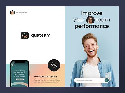 Quateam Branding packaging design identity logotype brand identity logo branding