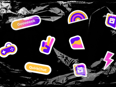 Quirkchat - Geek Social Network brand guidelines chat black fandom geek anime blm social network community logo design dribbble dribble packaging halo halo lab identity logotype logo brand identity branding