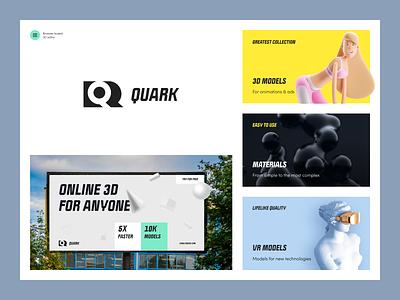 Quark - Online 3D Editor Tool ads marketing smm banner online packaging quark dribbble dribble halo halo lab identity logotype brand identity logo branding
