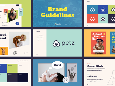 Petz Brand Guidelines packaging design halo halo lab identity logotype brand identity logo branding
