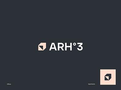 ARH-3 Studio - Marketing Materials halo logo design packaging pitch deck promo materials social media brand guidelines agency studio architecture dribble dribbble halo lab identity logotype brand identity logo branding