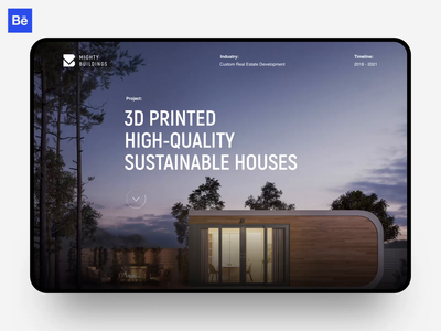 Mighty Buildings Case Study web product animation building startup real estate marketing dribble dribbble studio agency portfolio behance case study