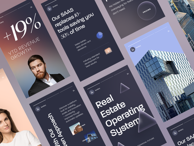Landary Marketing Materials startup strategy business real estate design brand guidelines studio agency social banners marketing dribble dribbble packaging halo lab logotype identity logo brand identity branding