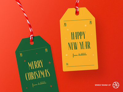 Xmas Warm-up: Holiday Gift Tag gift newyear typogaphy typeface dribbble business card christmas xmas holiday tag halo lab halo business brand identity branding