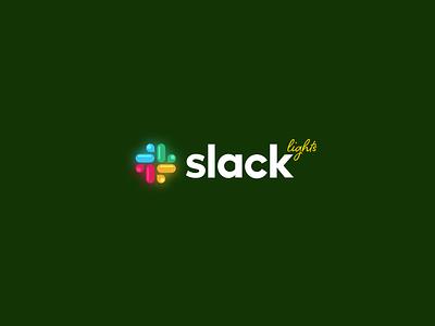 Xmas Warm-up: Slack Lights slack holiday xmas newyear gift halo lab halo christmas brand identity identity logo branding