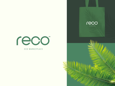 reco - Recycled Marketplace logodesign vector marketplace green ecology recycled identity logotype business logo branding brand identity halo lab halo