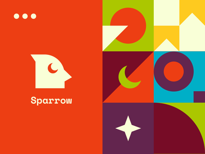Sparrow Browser Extension sparrow bird browser chrome extension pattern logotype brand identity icons identity logo design logo marketing branding startup business halo lab halo colourful design