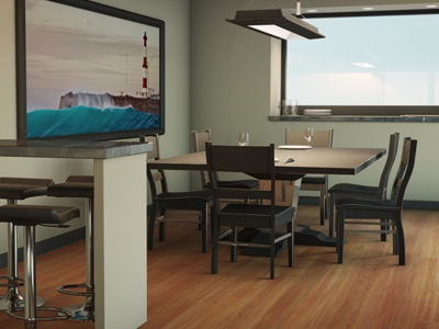 3D Second Level - Diningroom