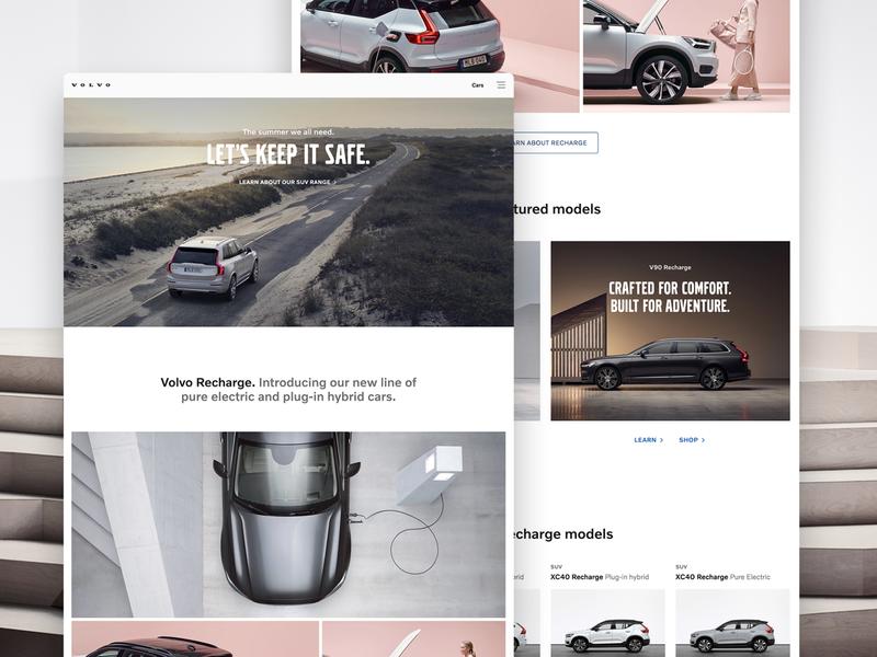 Volvocars.com Redesign landing page marketing website visual design austin funsize