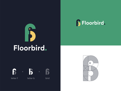 Floorbird. flat ui design vector minimal mark logotype logodesign logo icon branding