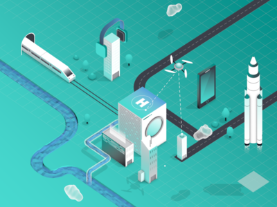 HERE Location Trends Report - Overview loop vector illustration animation motiondesign motiongraphics isometric 3d mograph cinema4d