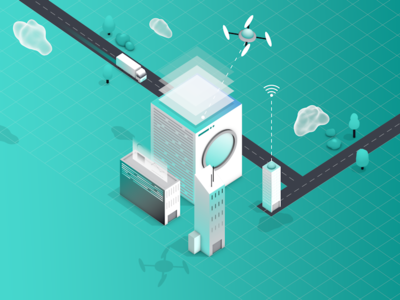 HERE Location Trends Report - Trend One loop vector illustration animation motiondesign motiongraphics isometric 3d mograph cinema4d