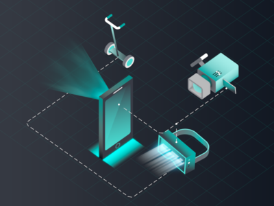 HERE Location Trends Report - Trend Four loop vector illustration animation motiondesign motiongraphics isometric 3d mograph cinema4d