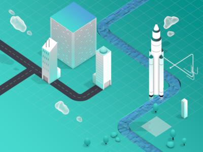 HERE Location Trends Report - Trend Five loop vector illustration animation motiondesign motiongraphics isometric 3d mograph cinema4d