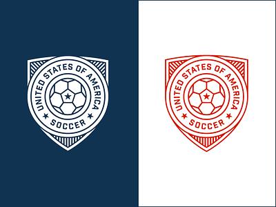 USA! USA! USA! soccer football badge logo crest sports ball usa united states vector rinker world cup