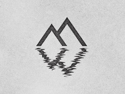 Mountain West mountains west reflection logo identity rinker lake adventure explore monogram