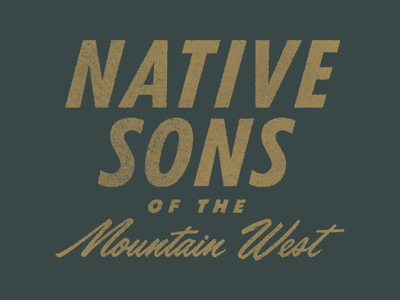Native Sons of the Mountain West typography rinker rough vintage texture mountain west native idaho branding type treatment