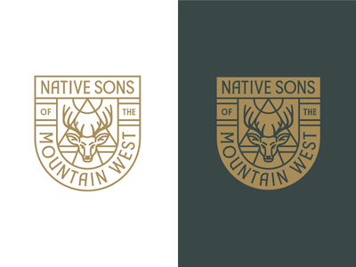 NSMW Badge badge crest logo seal emblem rinker deer idaho mountain west branding illustration