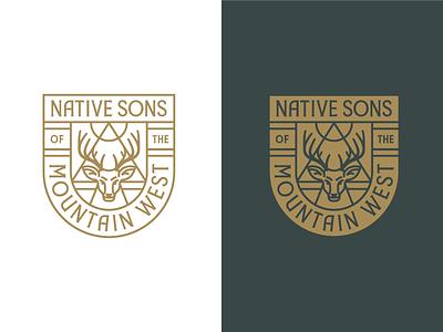 NSMW Badge badge crest logo seal emblem rinker deer idaho mountain west branding illustration