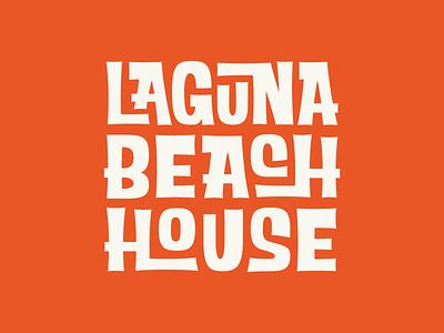 LAGUNA BEACH HOUSE LOGO logo identity illustration rinker icon branding typography beach lettering hotel california