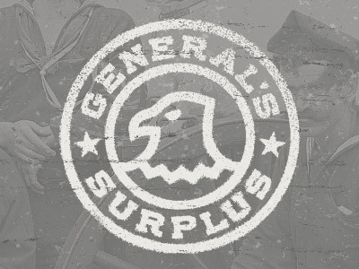 The General's Surplus logo branding vector eagle