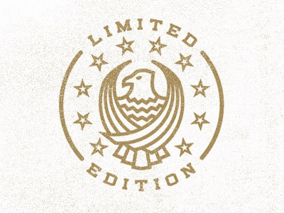 Limited Edition Stamp vector eagle ltd stamp illustration seal logo