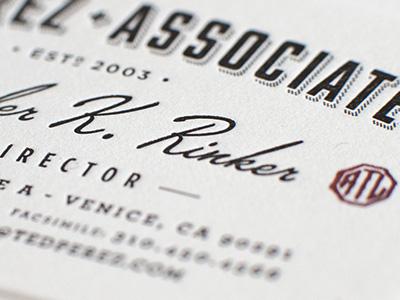 Ted Perez Branding - Biz Card Crop badge seal logo business card letterpress identity stamp branding rinker