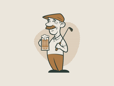 Brophy's Tavern - Brophy retro cartoon illustration character bar pub mark branding logo identity design rinker