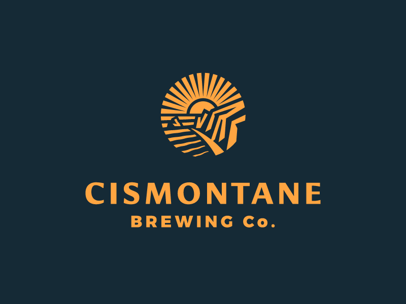 Cismontane Brewing Co. Identity badge coast california beer brewery mark logo identity branding illustration design rinker