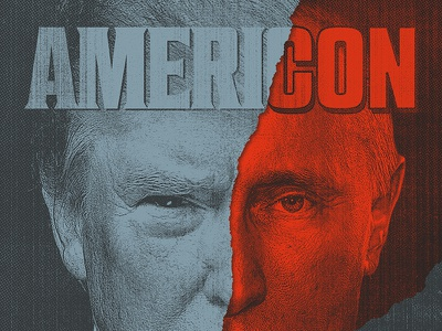 AMERICON usa russia america putin trump politics illustration design rinker