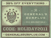General's Surplus Holiday Sale!