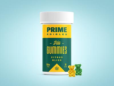 PRIME - Vita Gummies - Citrus Bliss logo packaging edibles los angeles california marijuana weed cannabis identity design branding rinker
