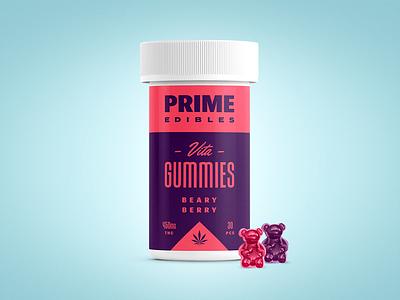 PRIME - Vita Gummies - Beary Berry logo packaging edibles los angeles california marijuana weed cannabis identity design branding rinker