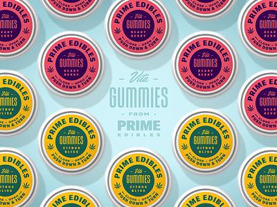 PRIME - Vita Gummies - Caps logo packaging edibles los angeles california marijuana weed cannabis identity design branding rinker