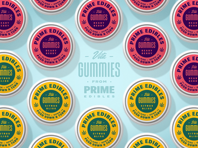 PRIME - Vita Gummies - Caps logo packaging edibles los angeles california marijuana weed cannabis identity design branding rinker