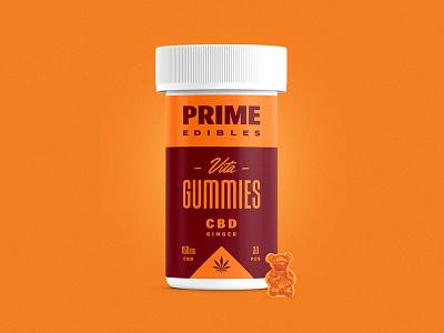 PRIME - Vita Gummies - CBD Ginger logo packaging edibles los angeles california marijuana weed cannabis identity design branding rinker
