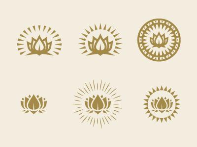 Lotus Logo logo branding lotus flower ray mark badge seal rinker