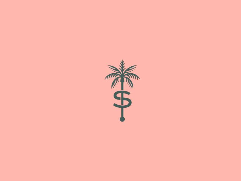 The Scott Resort Identity - 1 palm the scott scottsdale arizona los angeles hotel illustration logo identity branding design rinker
