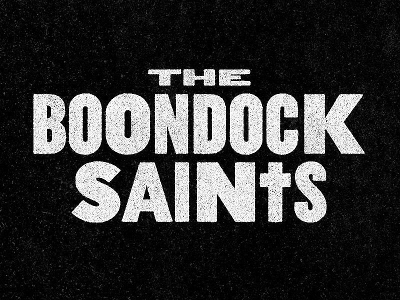 The Boondock Saints boondock saints los angeles tv show title treatment type treatment typography logo identity branding design rinker