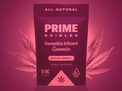 PRIME Edibles - Mixed Berry identity design edibles cannabis branding cannabis packaging weed marijuana cannabis packaging package design california identity branding design rinker
