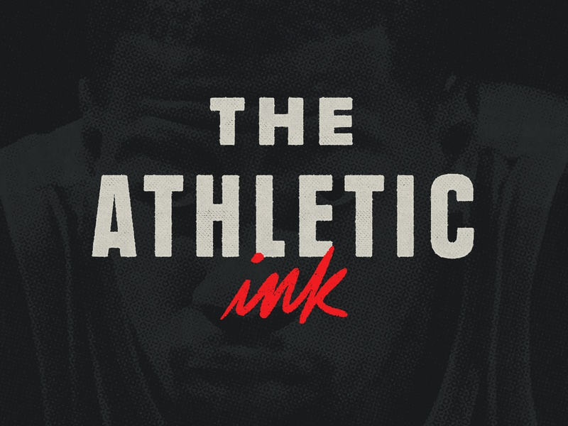 The Athletic Ink editorial athletic sports type lettering logo lettering identity typography branding logo design rinker