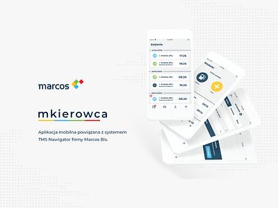 mkierowca branding icon app flat minimal typography ux ui design
