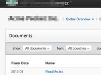 Document Filter UI