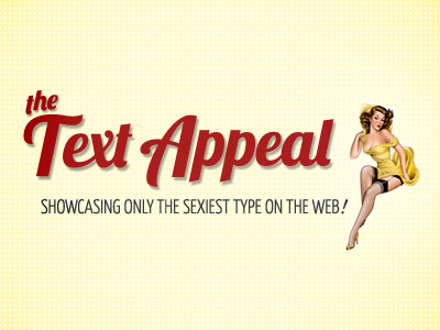The Text Appeal the text appeal web fonts pin-up girl lobster yellow typography web fonts
