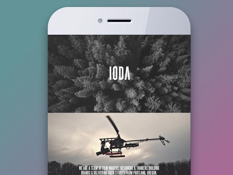 IODA sleek clean white black ui ux interactive modern film